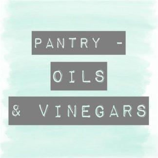 Oils & Vinegars Pantry