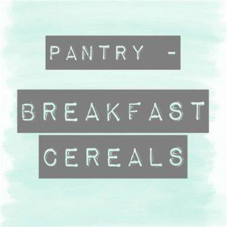 Granolas, Breakfast Cereals & Meusli Pantry