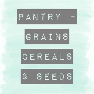 Grains, Cereals & Seeds Pantry